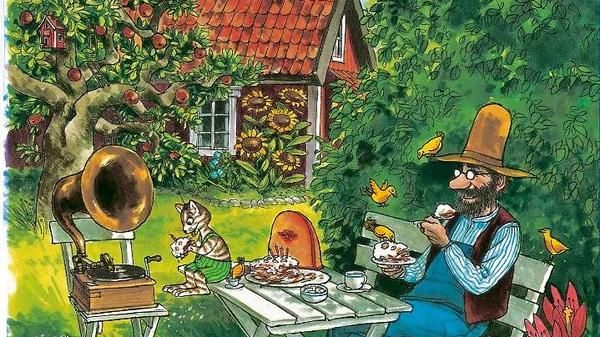 Petterson Und Findus Essen Pfannkuchentorte In Eine