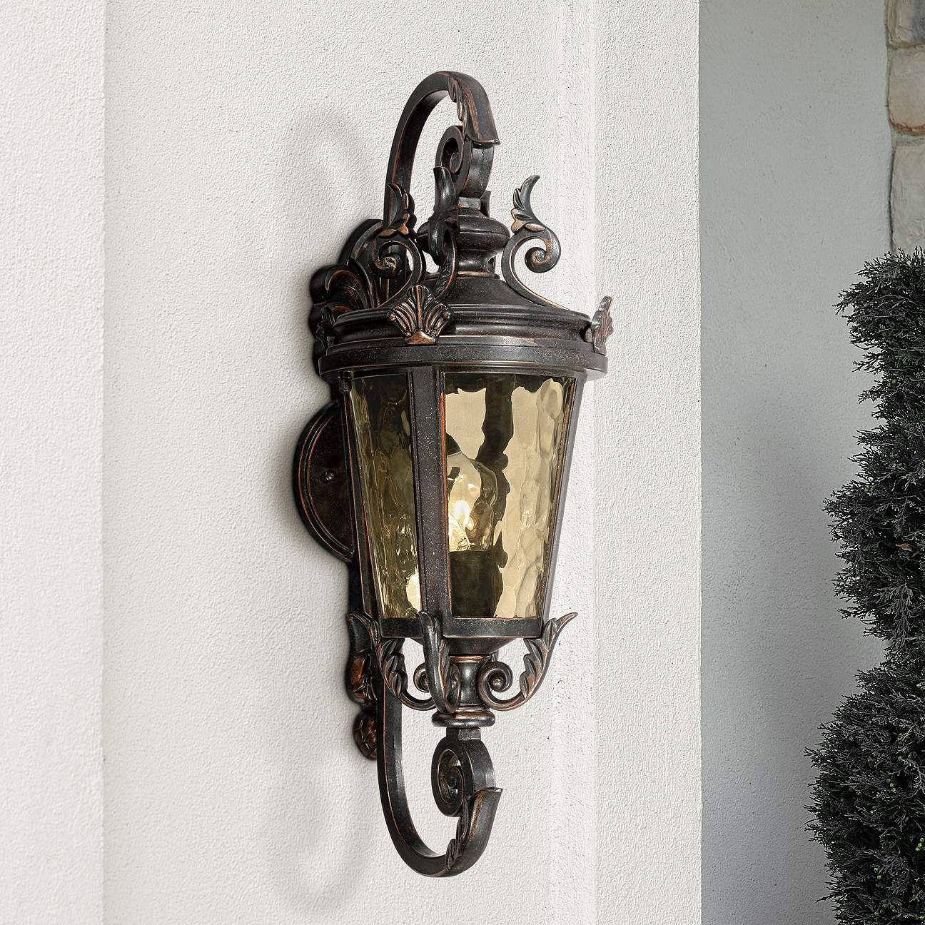 Casa Marseille 19 High Bronze Outdoor Wall Light X0328 Lamps Plus In 2021 Outdoor Wall Light Fixtures Wall Lights Black Outdoor Wall Lights