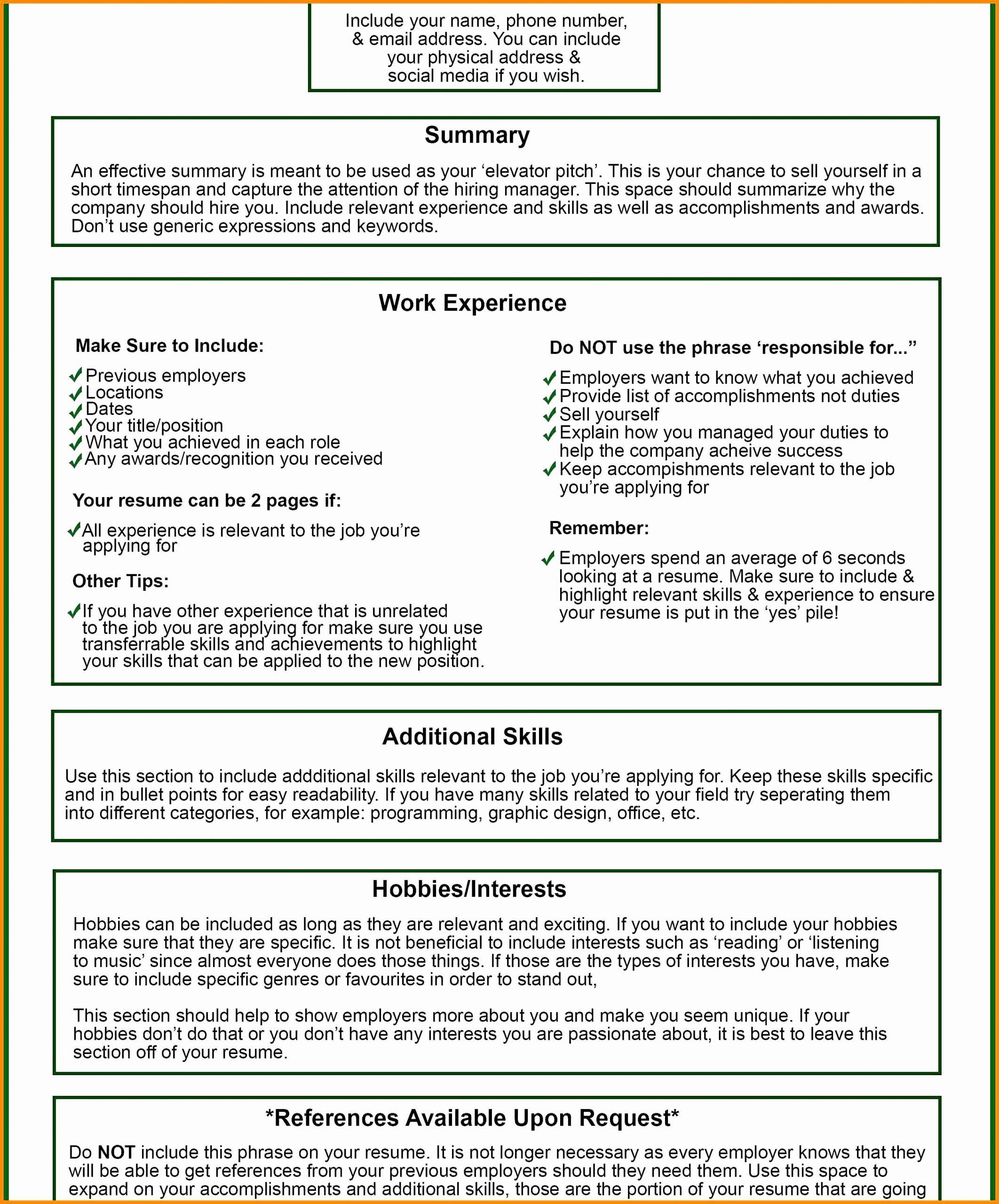 Template for Letter Of Interest Luxury Resumes Hobbies and