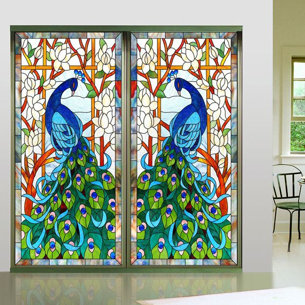 Cheap decorative window stickers buy quality window sticker directly from china decoration window suppliers new design europen style peacock glass window