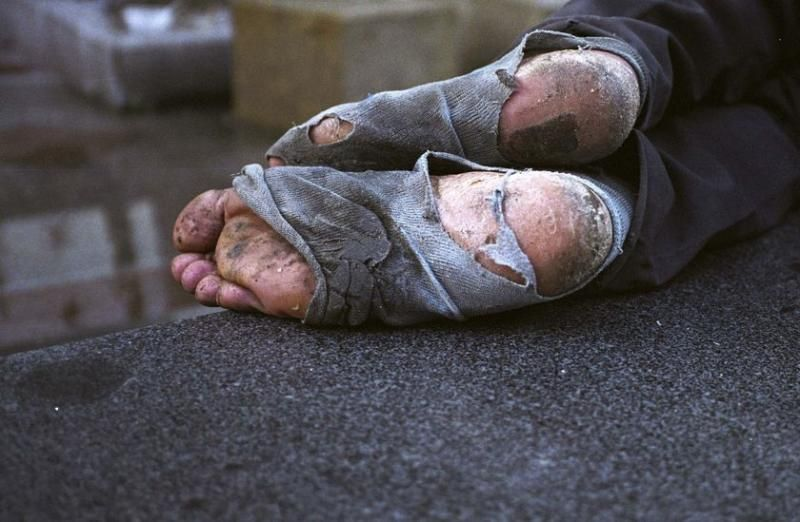 Homeless can't even afford socks, come donate Friday May