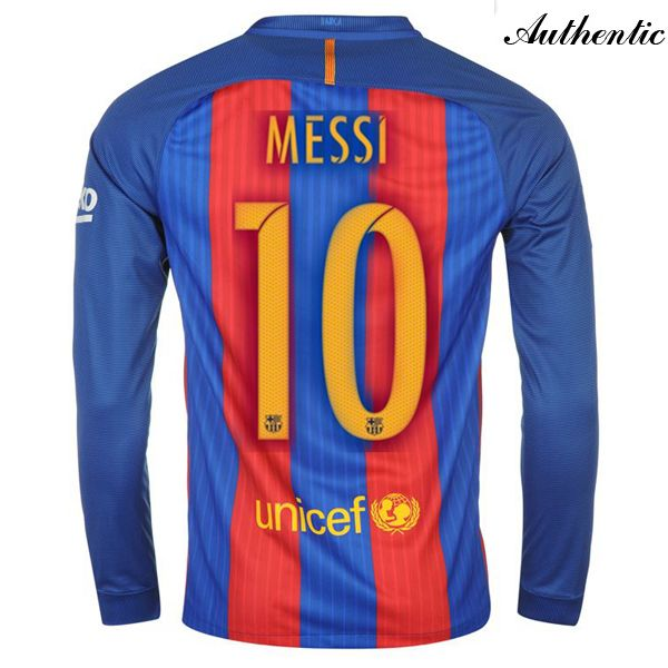 d8402085b Lionel Messi Authentic Home LS Soccer Jersey 16 17 Barcelona  10 ...