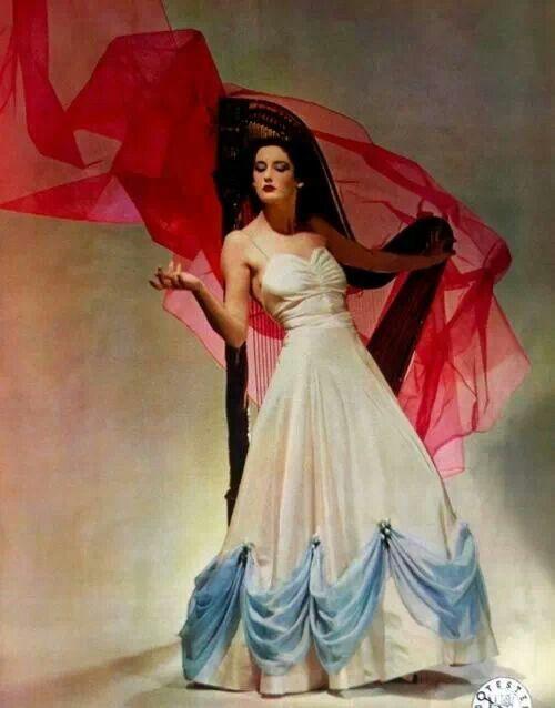 Evening dress, Vogue, 1938