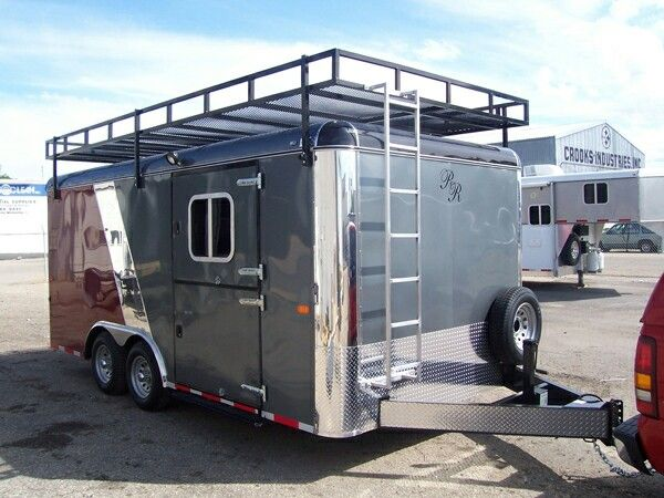 Pin By Cody Jo Olson On Custom Trailers Enclosed Trailers Roof Rack Work Trailer