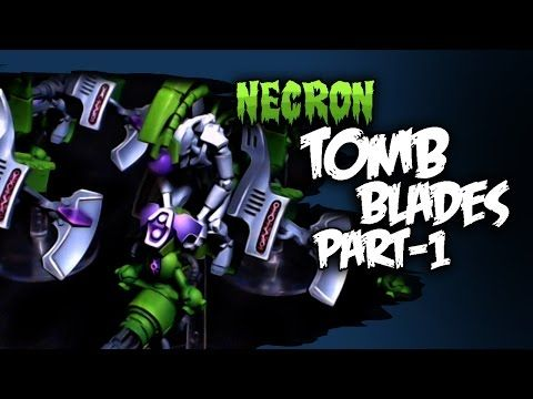 How To Paint Necron Tomb Blades - Part 1 - YouTube