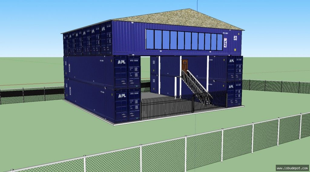 Conex box house container home not a whole lot of information provided but enough for - Container home info ...