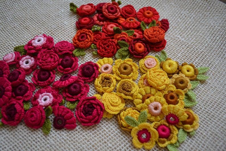 Fiori Gialli Irlanda.Rose Gialle In Miniatura Fiore Kit Irlandese Crochet Set 30pcs