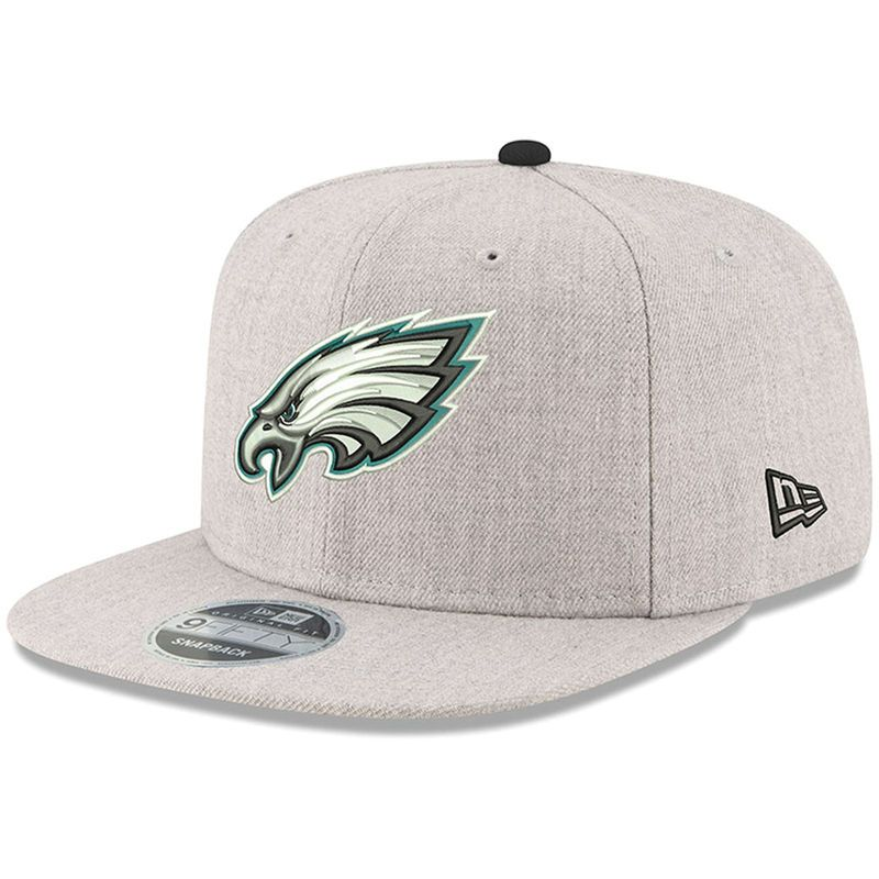 Philadelphia Eagles New Era Hype 9FIFTY Snapback Adjustable Hat – Heathered  Gray 8ab019dd3