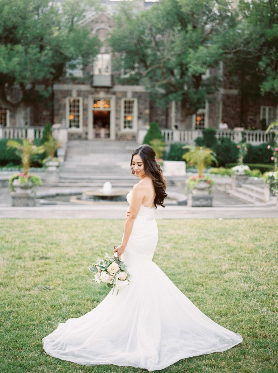 Strapless wedding dress that is breathtaking! Photography : Julia Park Photography And Cinema Read More on SMP: http://www.stylemepretty.com/canada-weddings/ontario/toronto/2017/01/11/the-kind-of-wedding-you-look-back-on-and-still-love-in-20-years/