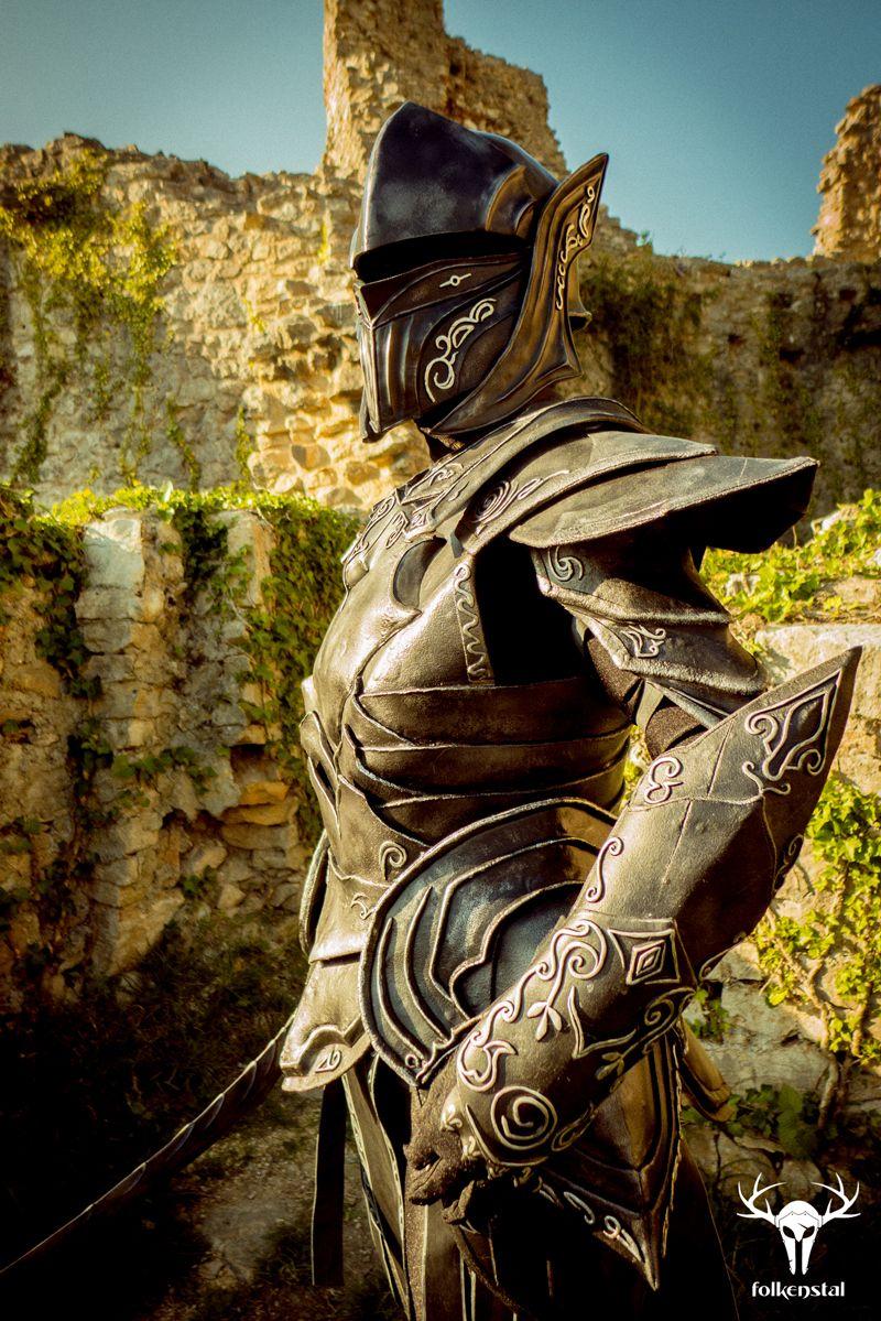 Skyrim Character Design Ideas : Skyrim ebony armor by folkenstal female cosplay costume