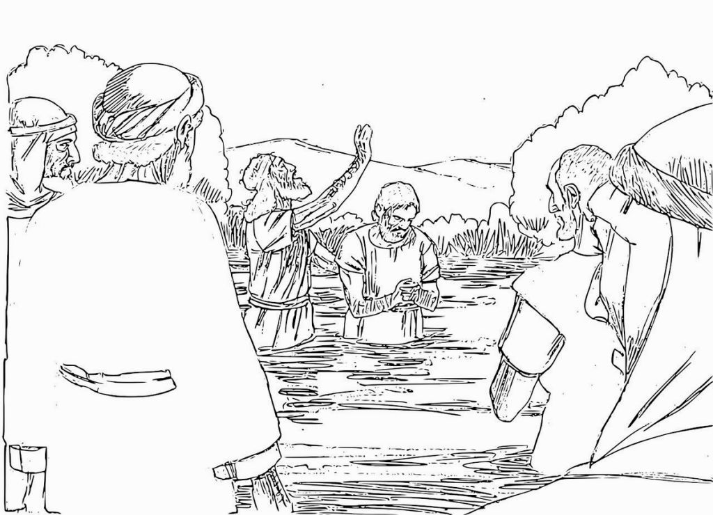 John The Baptist Coloring Page With Images Sports Coloring