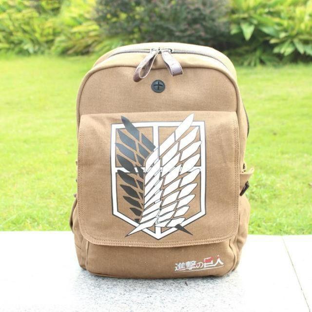 Attack On Titan Shingeki no Kyoji Scouting Legion School Backpack Shoulder Bag