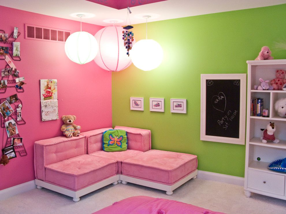 Colored walls colorful interiors kolorowe wn trza - Most beautiful girls rooms ...