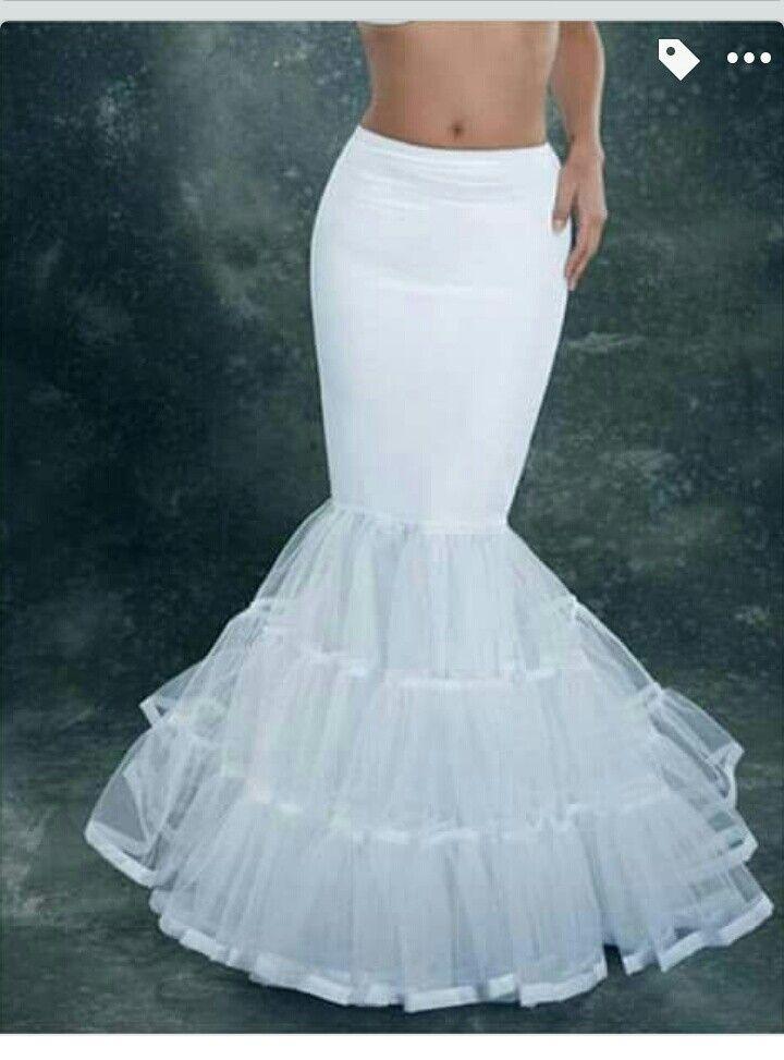 Crinolina para vestidos corte sirena | Diseño y costura | Pinterest ...