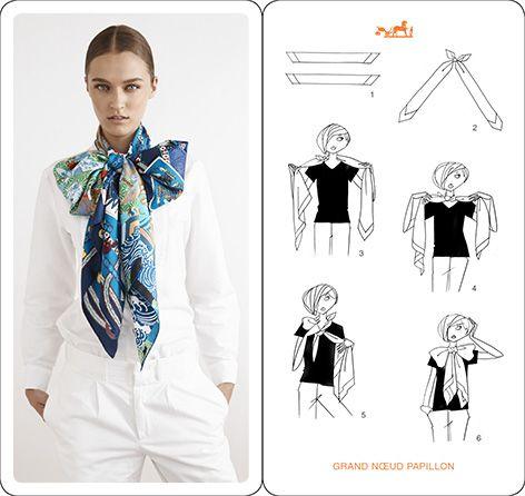 как повязать небольшой платок на шею