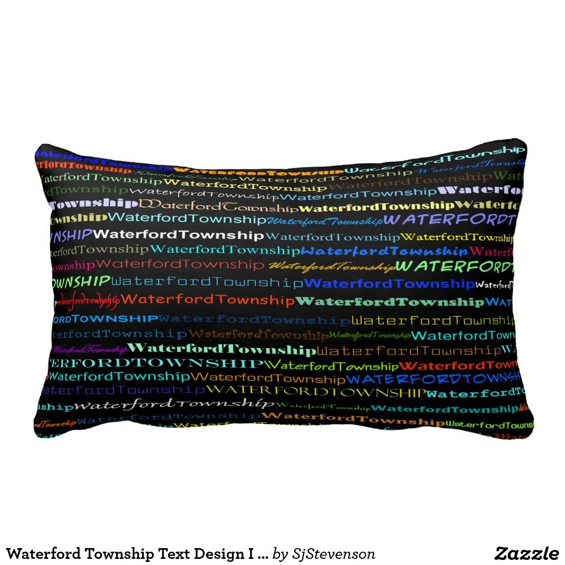 Waterford Township Text Design I Lumbar Pillow