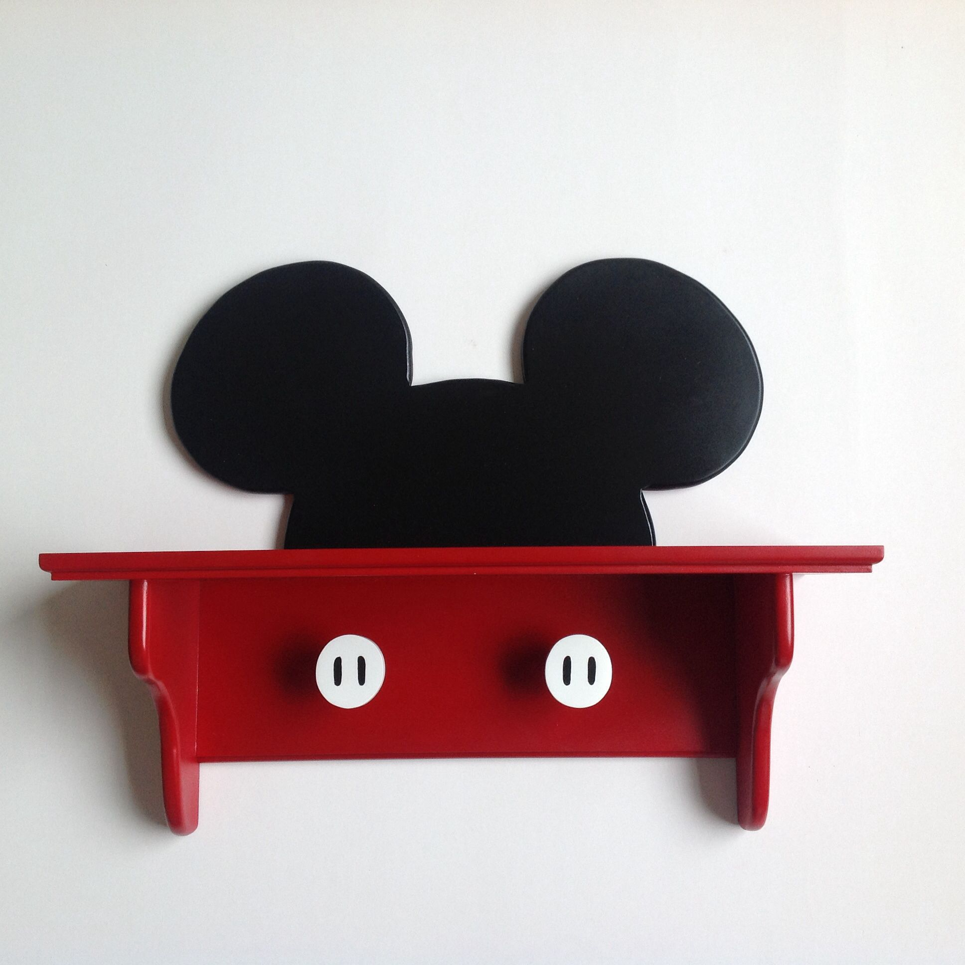 Micky Maus Möbel Mickey Mouse Wall Deco Shelf Handmade By Under Ten Cr Disney