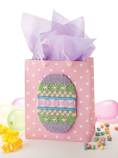 Plastic Canvas Special Occasion Gift Bag Toppers Pattern From E