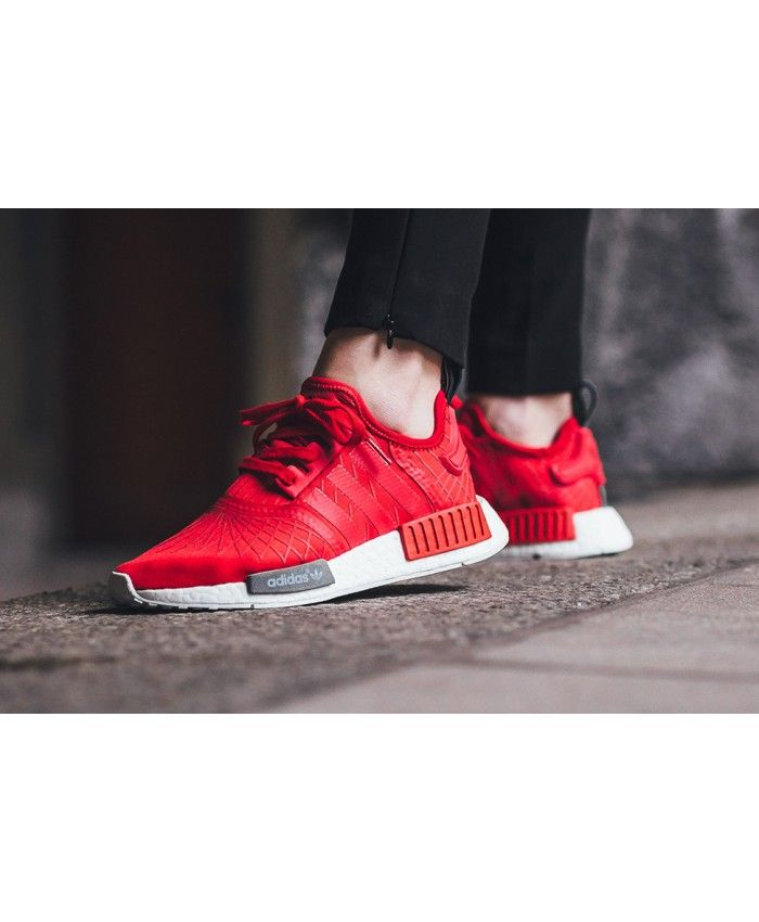 f58632fa4b7 Cheap Adidas NMD R1 Deep Red White Shoes