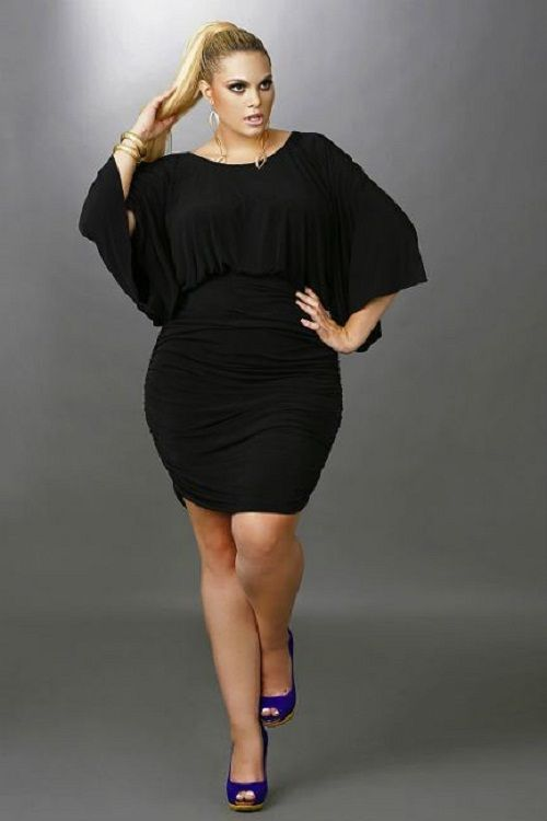 Short black cocktail dresses plus size