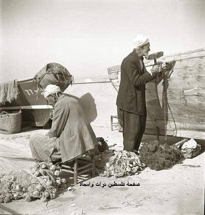 صناعة المراكب في يافا 1930
