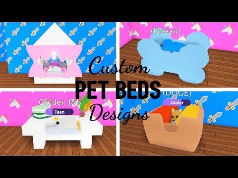 Custom Unique Pet Beds Design Ideas Building Hacks Roblox Adopt Me Youtube Custom Pet Bed Pet Beds Unique Pet Bed