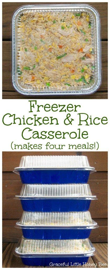 Freezer chicken rice casserole receta comidas congeladas freezer chicken rice casserole forumfinder Choice Image