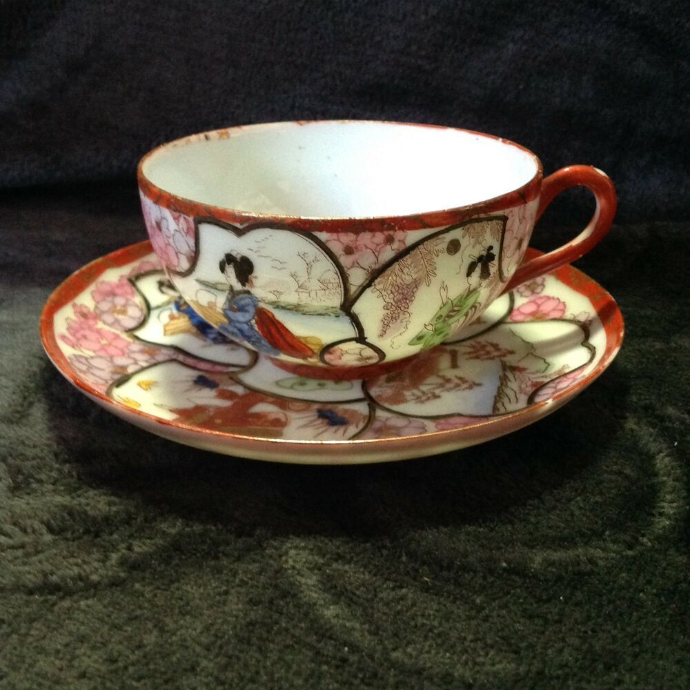 Antique Vintage Fine China Chinese cup and saucer Date ID By