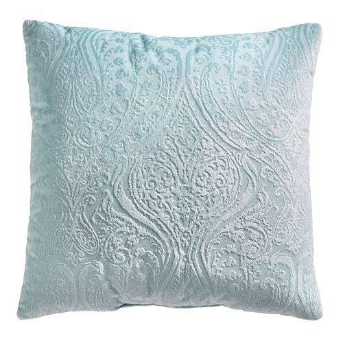Sensational Paisley Velvet Aqua Pillow In 2019 Living Room Now Ocoug Best Dining Table And Chair Ideas Images Ocougorg
