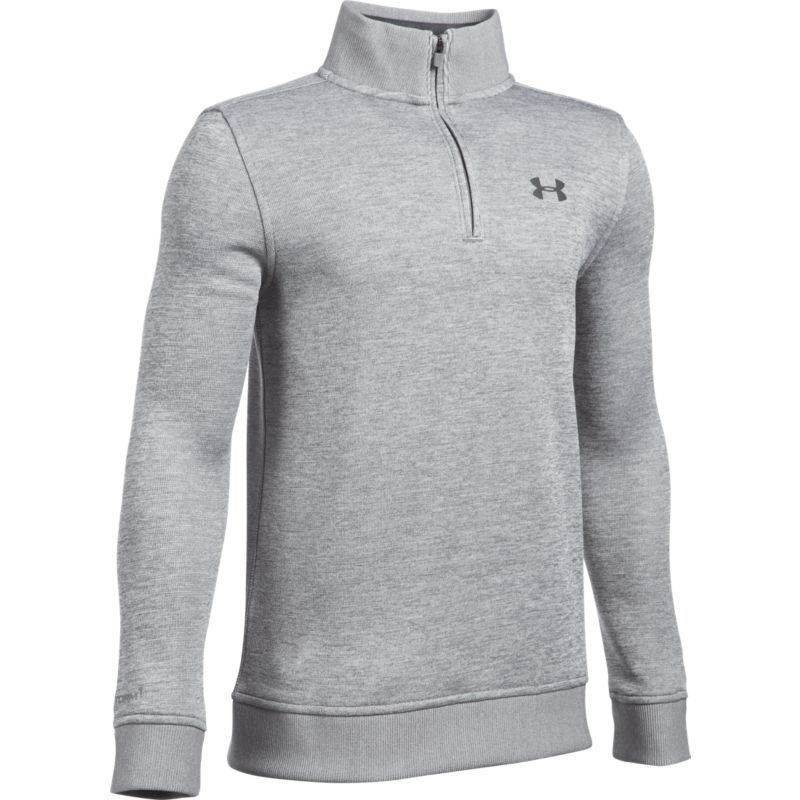 2f792ae1 Under Armour Boys' Uniform Quarter-Zip Golf Sweater, Size: Medium, Gray