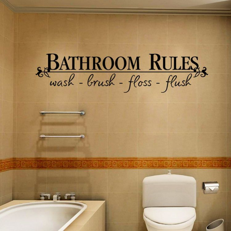 New Room Art DIY Removable Wall Sticker Quote Word Home Decal Decor Bathroom • $2.69