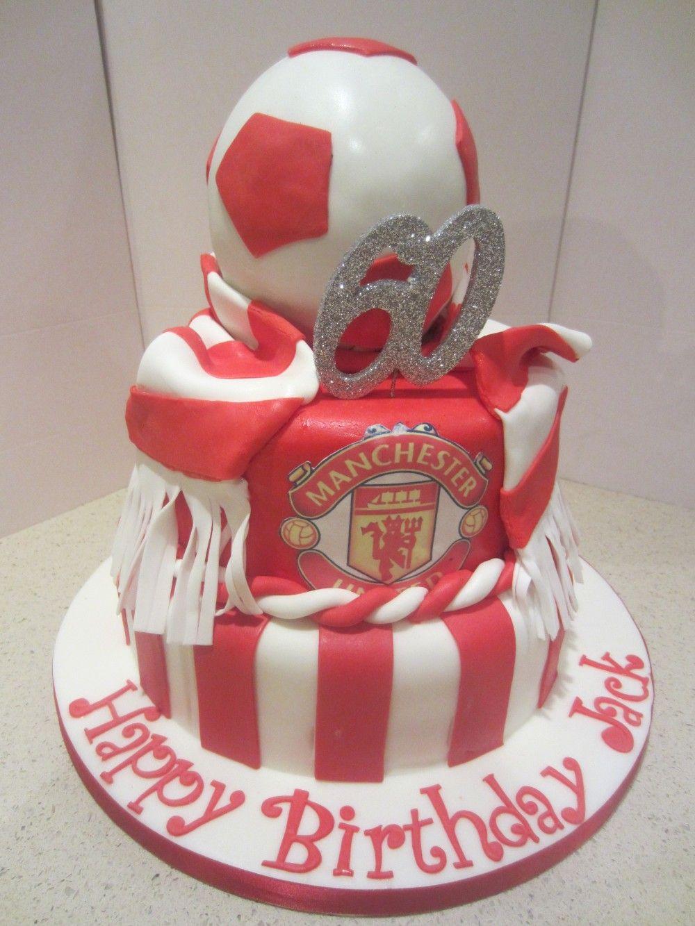 Man United Themed Cake Birthday cake, Cake, Soccer cake