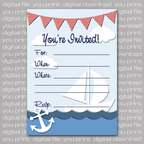 Nautical Birthday Invitations Ideas For Andrew