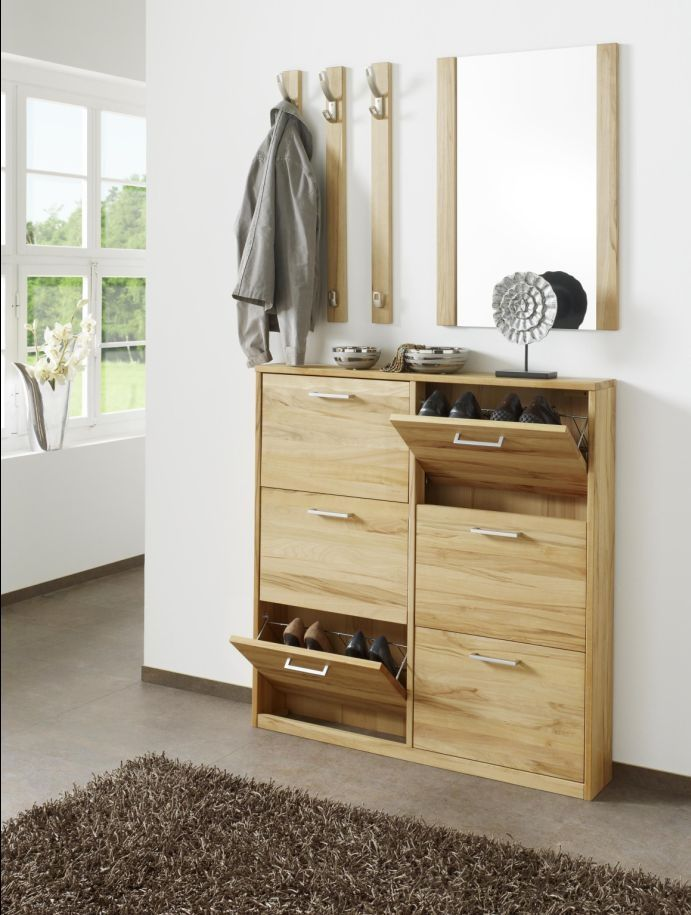 combi schuhschrank kernbuche 6 schubk sten tolles 39 design viel stauraum das. Black Bedroom Furniture Sets. Home Design Ideas
