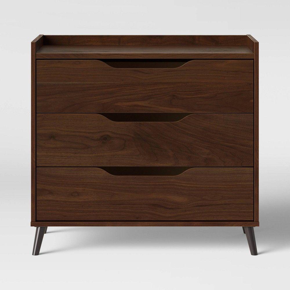 3 Drawer Modern Gallery Dresser Walnut Brown Room Essentials Target Brown Rooms Room Essentials Walnut Dresser [ 1000 x 1000 Pixel ]