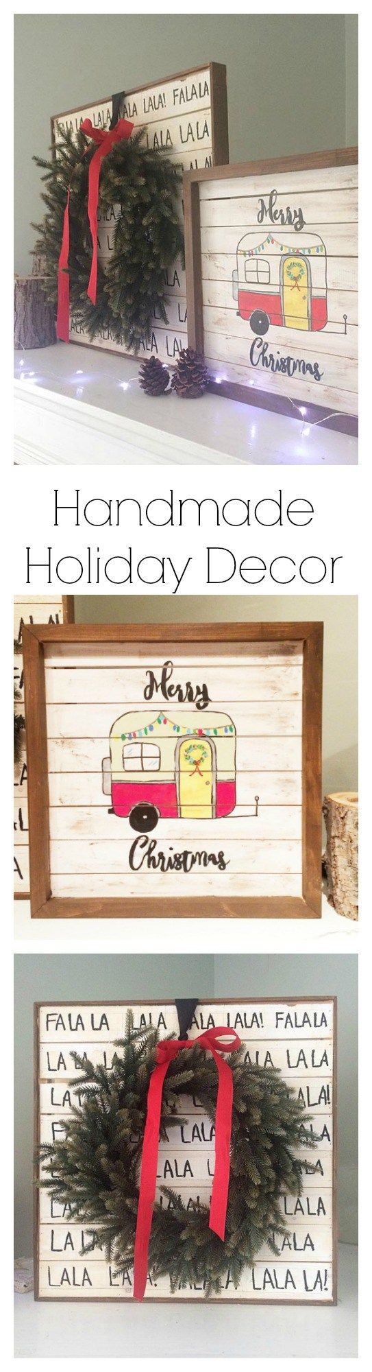 Handmade Holiday Decor - pallet wood signs