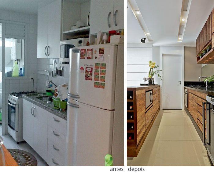 Reforma do apartamento uniu cozinha e sala reformas apartamentos e casados - Reformas de apartamentos ...