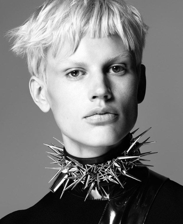 pixie hair on Saskia De Brauw