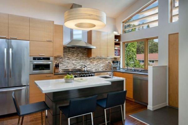 küche mit kochinsel kleine funktionale küche Küche Möbel - kleine küchenzeile ikea