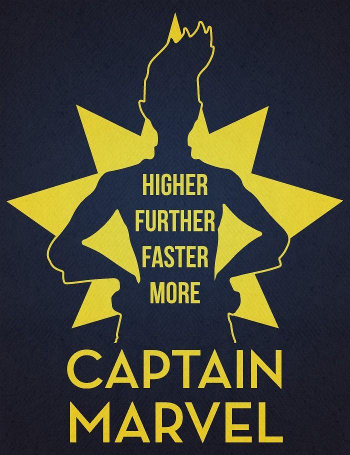 Captain Marvel by Sebastian Burton.