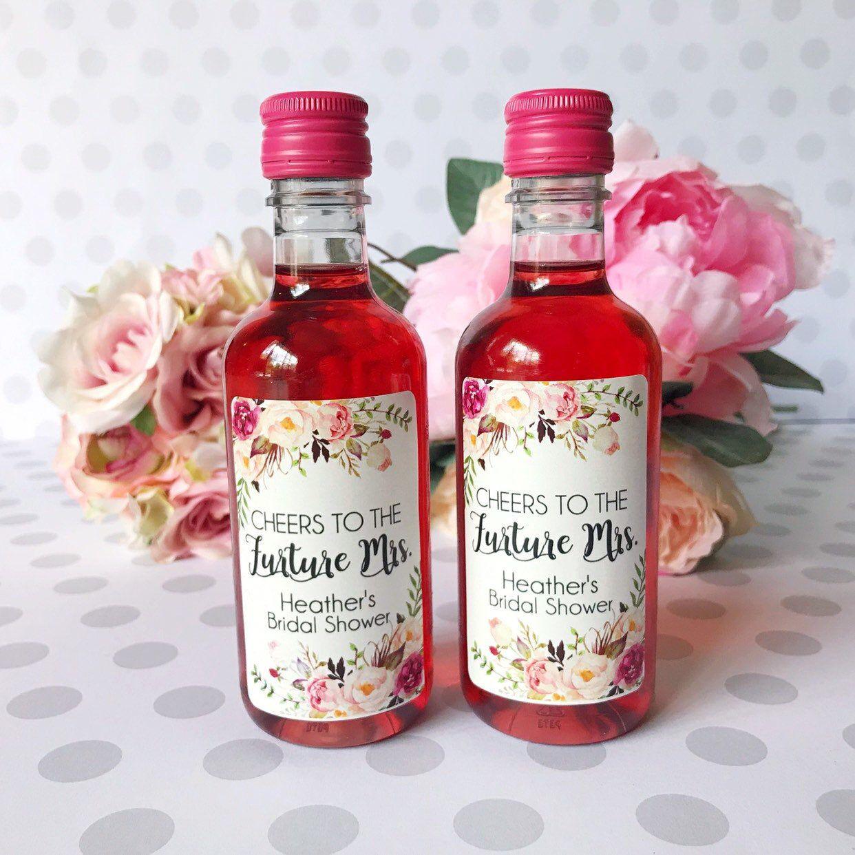 Custom Bachelorette Party Favors Mini Wine Bottle Labels Bridal Shower Favors Custom Wine Labels In 2020 Mini Wine Bottle Favors Mini Wine Bottles Wine Bottle Labels