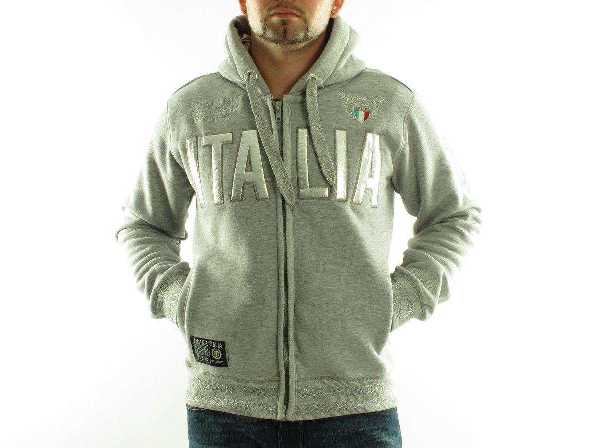 GANGSTER UNIT | Ganster Unit Moda | OUTLETPREMIER | Suéter con zip GANGSTER UNIT hombres - gitalia_b-grey_d-grey