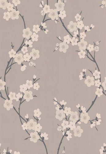 Cherry Blossom 19890 Wallpaper Red Silver By Graham Brown