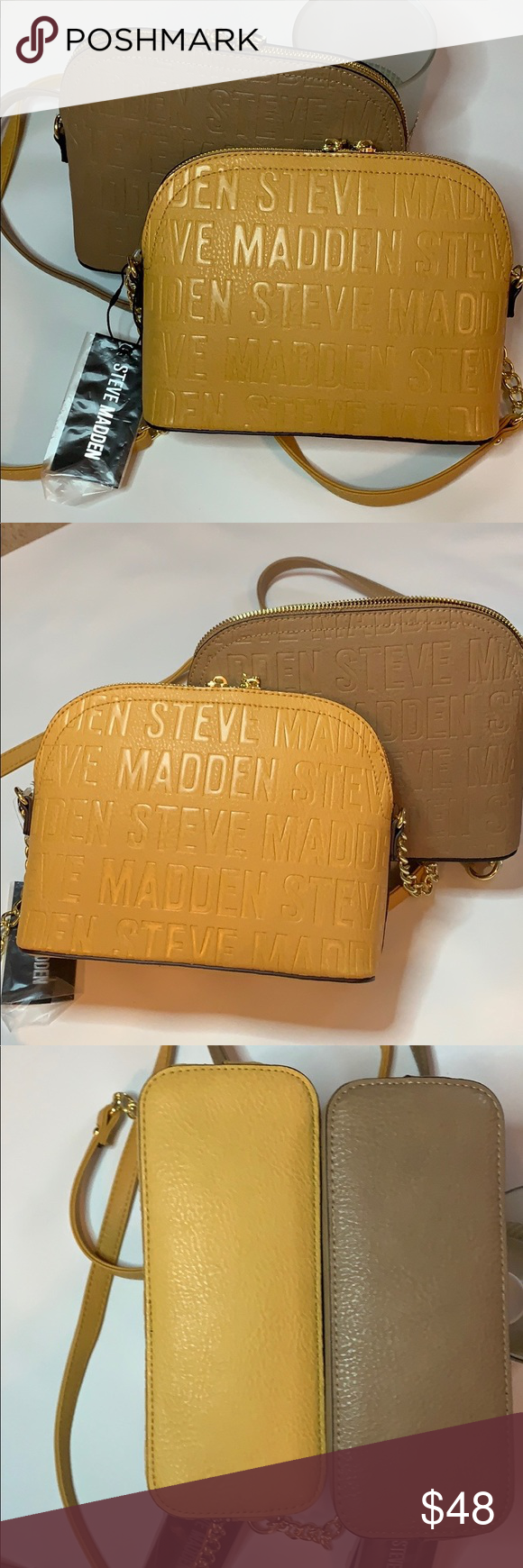 STEVE MADDEN HANDBAG BMAGGIE BLACK MULTICOLOR GOLD TONE HARDWARE NEW