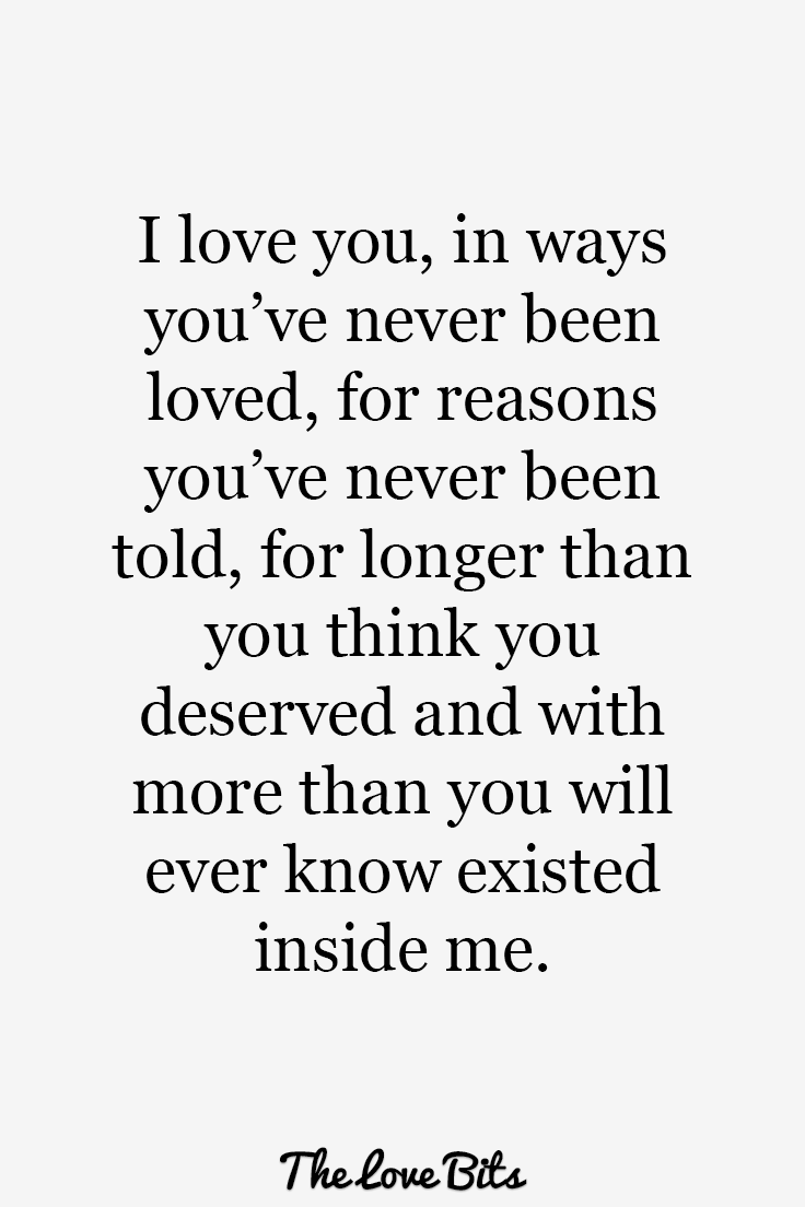 I Love You For You Quotes Impressive Swoonworthy I Love You Quotes To Express How You Feel