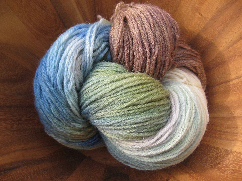 Woolpops Seaside Worsted Wool Yarn. $26.00, via Etsy.
