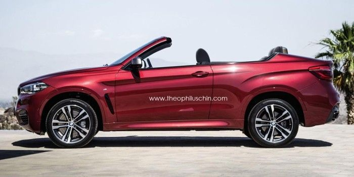 New BMW X6 rendered as a convertible SUV BMW Pinterest