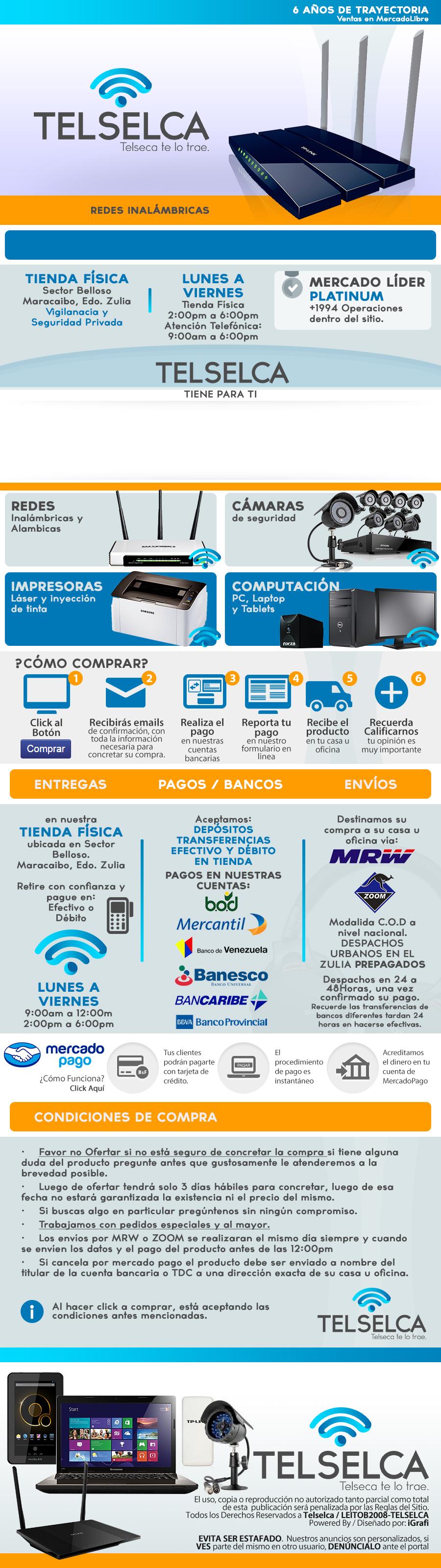 Cliente Telselca. Venta de productos de computación, accesorios ...