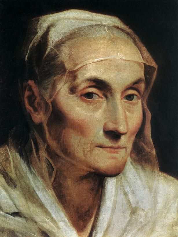 "Guido Reni  ""Portrait of an Old Woman""  (1611-1612) Pinacoteca Nazionale, Bologna, Italy"