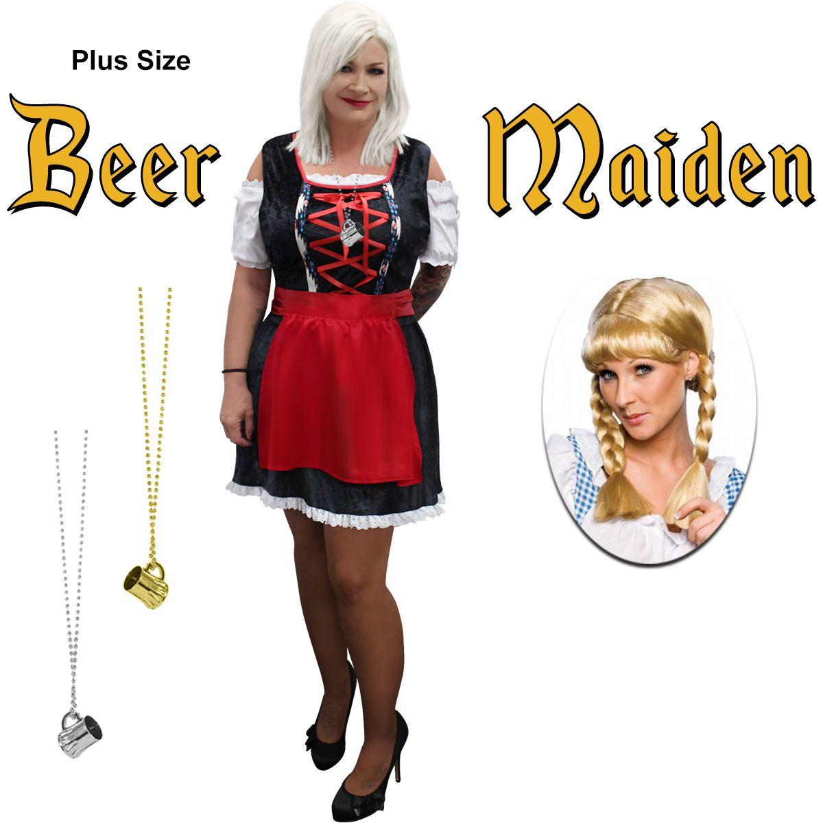 NEW! Plus Size Beer Maiden Halloween Costume Lg XL 1x 2x